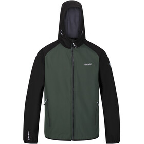 Regatta Arec II Softshell Jas Heren, deep forest/black